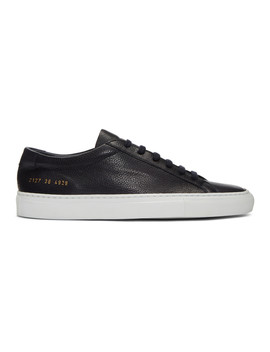 Navy & White Original Achilles Low Premium Sneakers by Common Projects
