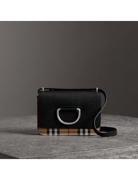 The Mini Vintage Check And Leather D Ring Bag by Burberry