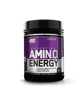 Optimum Nutrition Amino Energy, Concord Grape, Preworkout And Essential Amino Acids With Green Tea And Green Coffee Extract, 65 Servings by Optimum Nutrition