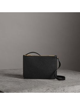 Triple Zip Grainy Leather Crossbody Bag by Burberry