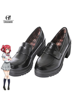 Rolecos Japanese Anime Love Live Sunshine Cosplay Shoes Takami Chika Girls Jk Shoes Love Live Aqours School Uniform Shoes by Ali Express