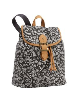 Northfield Black Ditsy Floral Xs Backpack by P Bteen