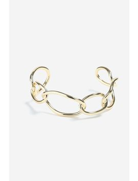 **Gold Circle Link Cuff Bracelet by Topshop