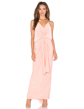 Domino Tie Front Maxi Dress by Misa Los Angeles