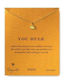"You Rule Necklace, 18"" by Dogeared"