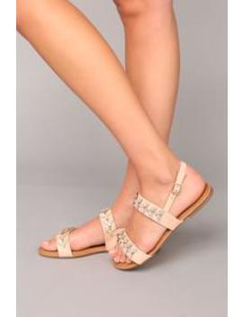 No Secrets Left Sandals   Blush by Fashion Nova