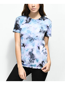 Zine Rayna Blue, Black &Amp; Purple Tie Dye T Shirt by Zine