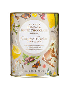 Crabtree & Evelyn White Chocolate & Lemon Biscuits, 100g by Crabtree & Evelyn