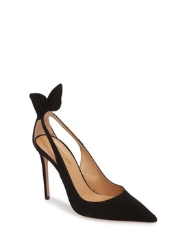 Deneuve Bow Pointy Toe Pump by Aquazzura