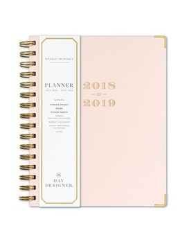 2018   2019 Spiral May Design Monthly Weekly Planner   Blushing by Blue Sky