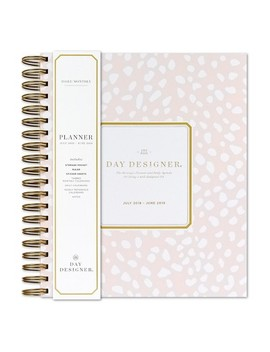 2018   2019 Spiral May Design Speckle Monthly Weekly Planner   Blushing/White by Blue Sky