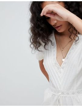 Asos Design Cotton Embroidered Jumpsuit With Tassel Trim by Asos Design