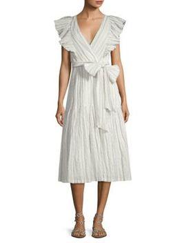 Striped V Neck Dress by Rebecca Taylor
