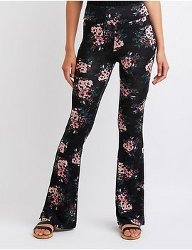 floral-flare-pants by charlotte-russe
