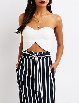 Sweetheart Crop Top by Charlotte Russe