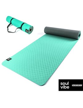 121 Perform Soul Vibe Thin Tpe Yoga Mat 6 Mm   Non Slip Good Grip Exercise Mat   Eco Friendly Suitable For Fitness/Pilates/Carry Straps Included by Amazon