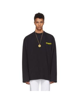 Black Long Sleeve Metal T Shirt by Vetements