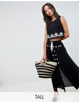 Glamorous Tall Embroidered Skirt With Tassle Ties Two Piece by Glamorous Tall