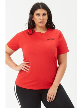 Plus Size Stranger Cotton Tee by Forever 21