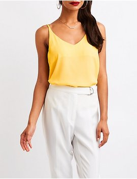 Sleeveless Swing Top by Charlotte Russe