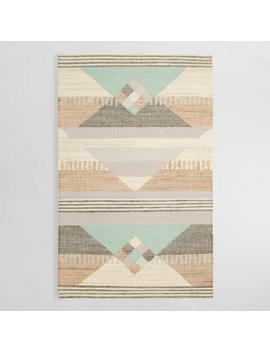 Geometric Jute And Wool Kilim Sarafina Area Rug by World Market