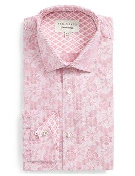 Orlov Trim Fit Floral Dress Shirt by Ted Baker London