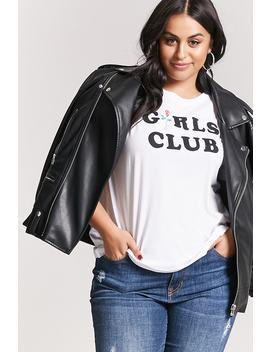 Plus Size Girls Club Graphic Tee by Forever 21