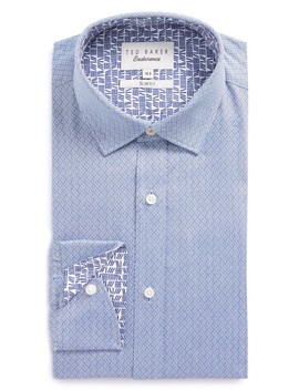 Endurance Driss Trim Fit Geometric Oxford Dress Shirt by Ted Baker London