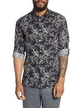 Rinnie Trim Fit Leaf Print Sport Shirt by Ted Baker London