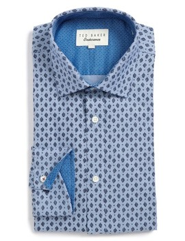 Endurance Begbie Trim Fit Print Dress Shirt by Ted Baker London