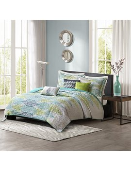 Madison Park Sonali 6 Piece Quilted Coverlet Set, King/California King, Blue by Madison Park