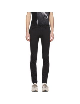 Black Chi Shaped Chino Trousers by Diesel