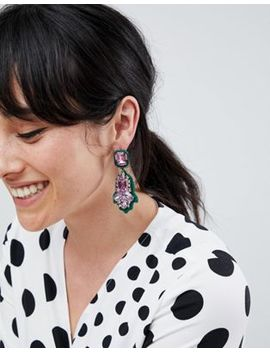 River Island Oversized Jewel Earrings by River Island