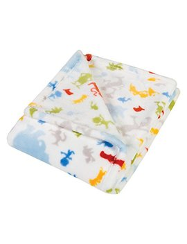 Trend Lab Plush Baby Blanket, Multi Dr. Seuss Friends by Trend Lab