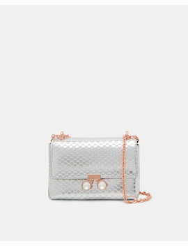 Crystal Bobble Metallic Leather Cross Body Bag by Ted Baker