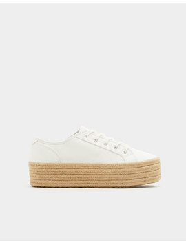 Tennis Blanches Jute by Pull & Bear
