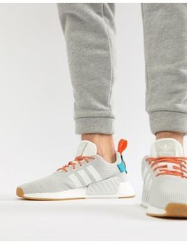 Adidas Originals Nmd R2 Boost Summer Sneakers In White Cq3080 by Adidas Originals