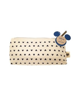 Junk Food Mickey All Over Print Pencil Shape Style Cosmetic Bag   Beige by Junk Food