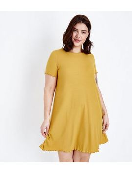 Curves Mustard Jersey Swing Dress by New Look