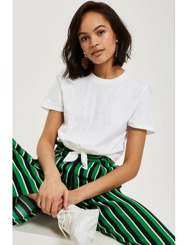 Petite Knot Front T Shirt by Topshop