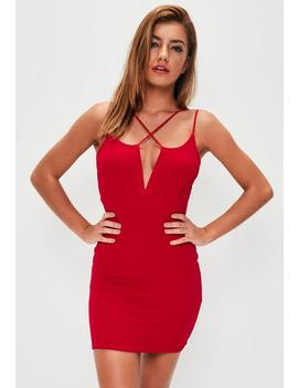 Red Multi Strap Bodycon Dress by Missguided