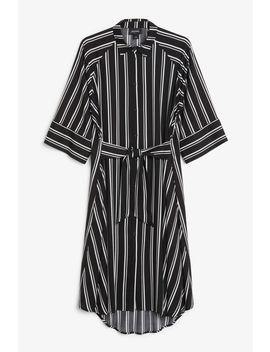 Stripe Kaftan Dress by Monki