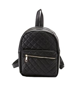Quilted Faux Leather Backpack by Charlotte Russe