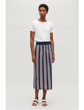 Wide Elastic Cotton Skirt by Cos