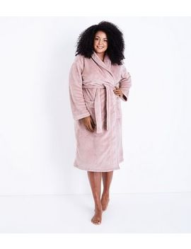 Curves Pink Fluffy Robe by New Look