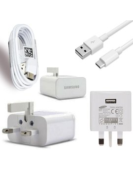 Samsung Galaxy A5(2017) Genuine Samsung Fast Adaptive Mains Plug & Genuine Samsung Usb Type C Charge & Sync Cable (Samsung Galaxy A5(2017)) by Amazon