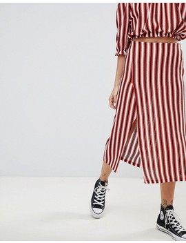 Pull&Bear Stripe Midi Skirt With Matching Top In Multi by Pull&Bear