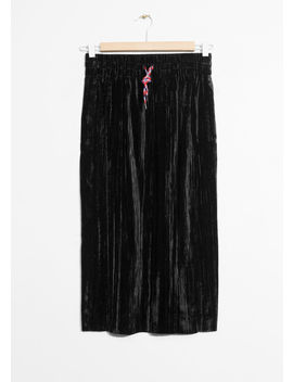 Wrinkle Velvet Skirt by & Other Stories