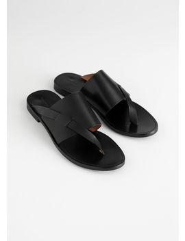 Curved T Bar Strap Sandals by & Other Stories