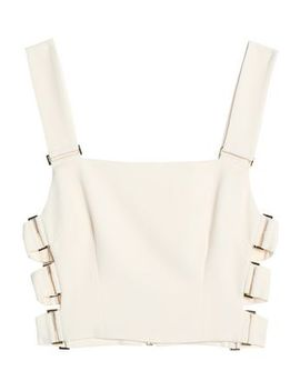 Cropped Cutout Crepe Top by Zimmermann